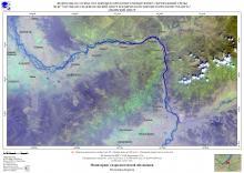 Гидрологическая обстановка на реках Республики Бурятия по спутниковым данным за 10 августа 2021 г.