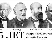 185 лет гидрометеорологической службе России