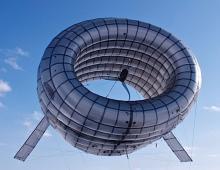 Парящая ветряная турбина, вырабатывающая электричество
