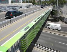 Очистка воздуха на шоссе в Швейцарии с помощью водорослей