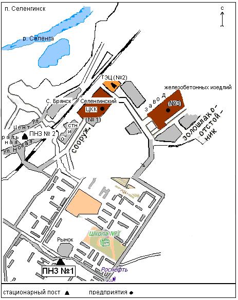 Схема-карта расположения ПНЗ в